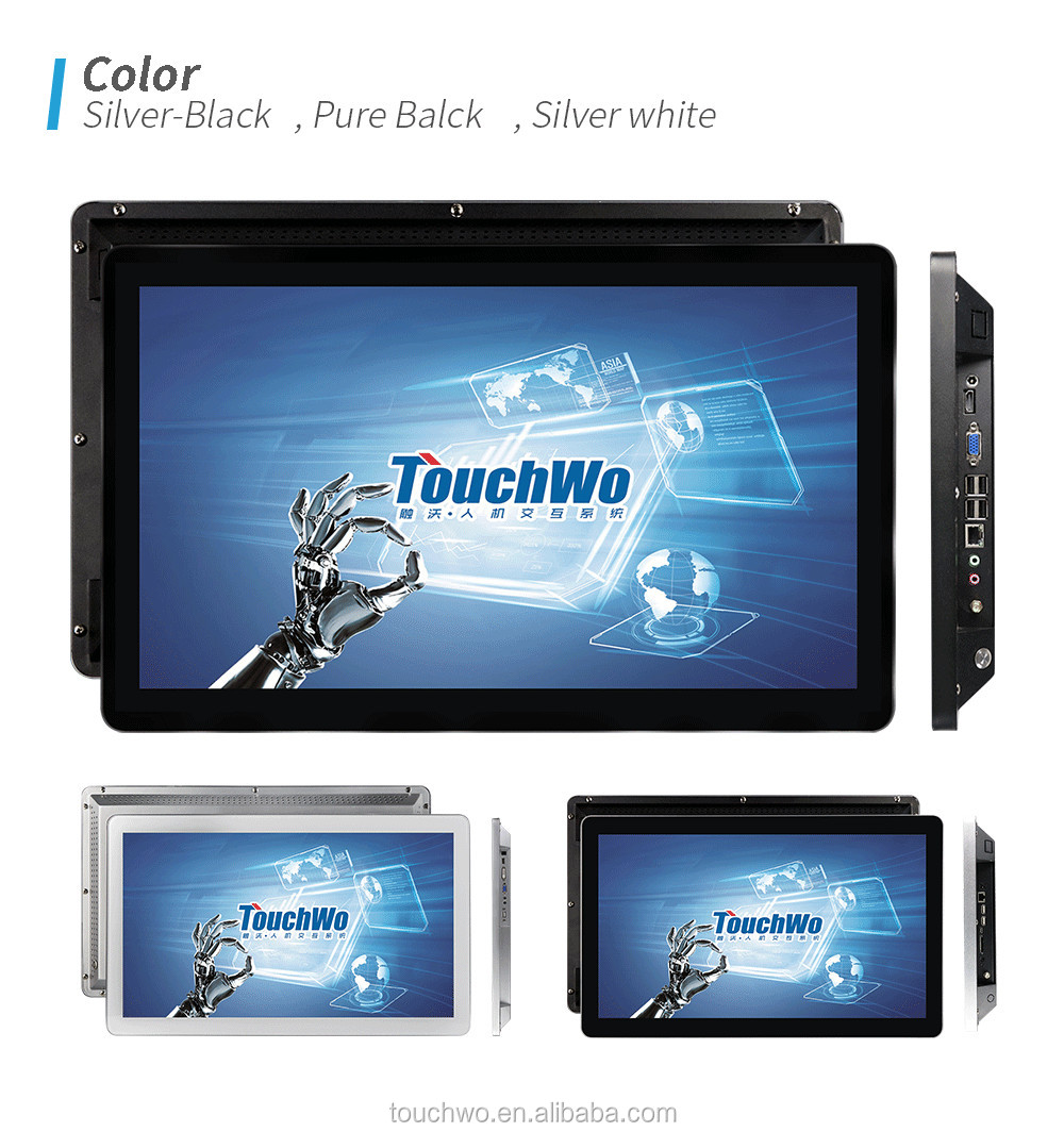 Stock Pacp monitor 23 inch rugged touch screen Android tablet with  wall mount touchscreen led screen monitor