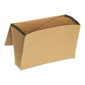 Pendaflex Essentials Products - Pendaflex Essentials - Essentials A-Z Expanding File, 21 Pockets, Kraft, Legal, Brown - Sold As 1 Each - Double thick front and back panels stand up to active use. - Gusset tops are reinforced with rip-proof tape to prevent tearing. - Preprinted dividers. -