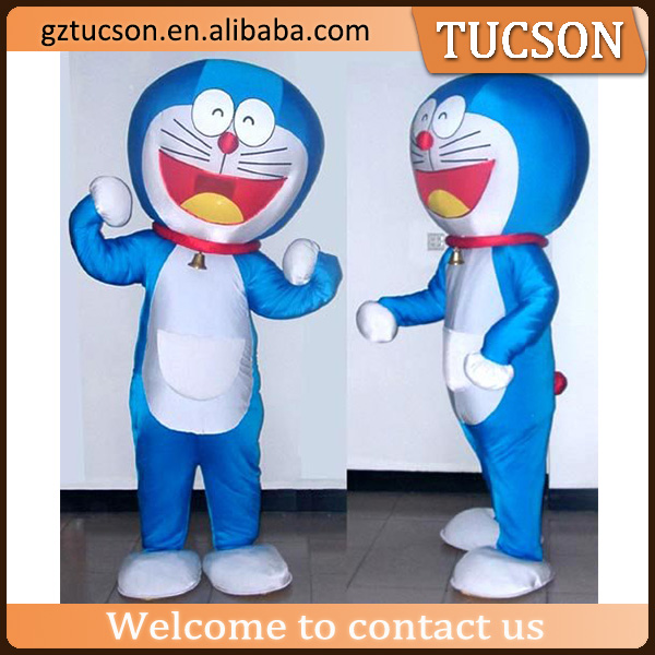 Cute bule inflatable doraemon costume mascot walking cartoon character for event