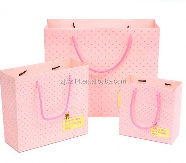 2015 fashion valentine's day paper bag/ 3d santa claus paper gift bags/ big paper bags for garment