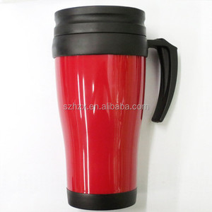 Coffee To Go Mug Travel Double Wall Tea Cup in Plastic