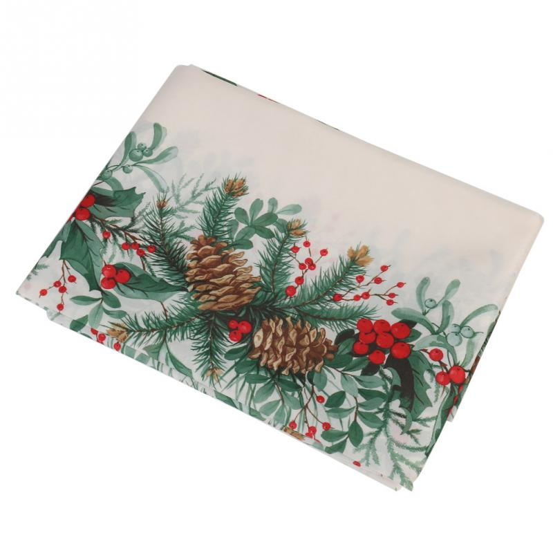 【new Year Christmas Tree ⑤ Tablecloth Tablecloth White