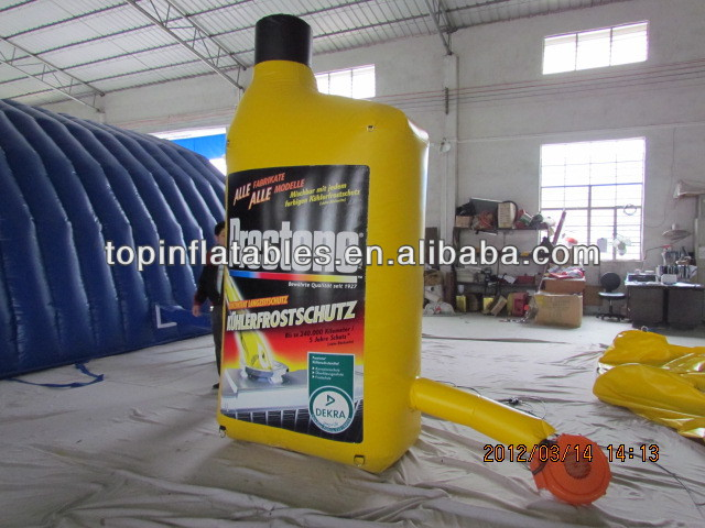 TOP commercial Inflatable oil bottle for advertising !