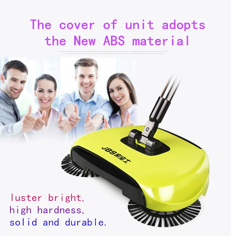 Hand push propelled sweeper 360 degree rotate spin broom for hard floor