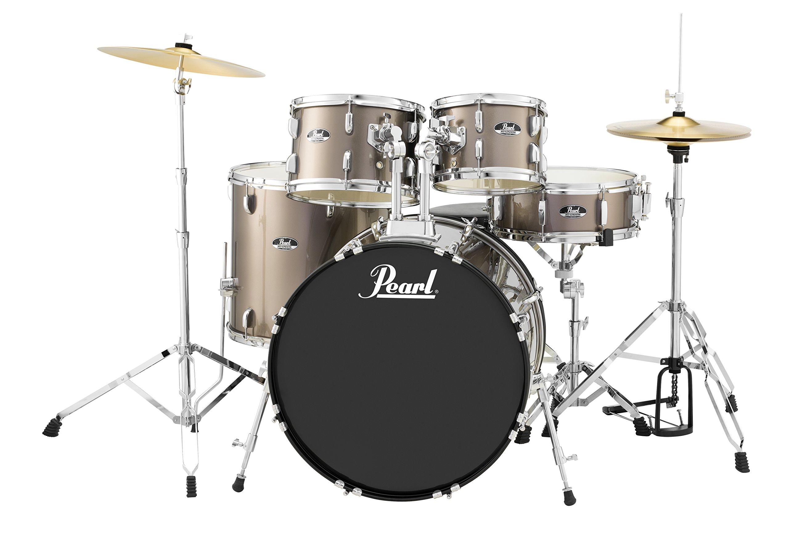 Pearl Roadshow RS525SC/C707 5-Piece Drum Set, Bronze Metallic