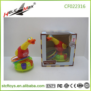 Flashing intelligent B/O duck with light interesting little duck formative educational toys