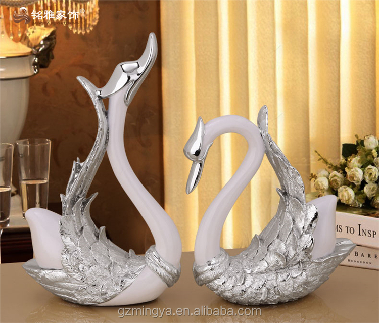 Wedding favor goose wholesale wedding gift resin swan figurine for home <strong>decoration</strong>