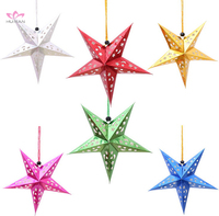 New Design Hanging Christmas Decorative Star Christmas Paper Star