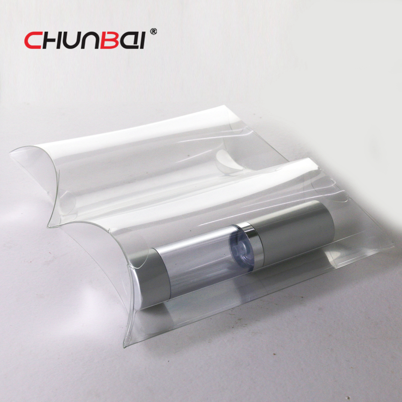Custom Personalized Clear Plastic PET Pillow Packaging Boxes