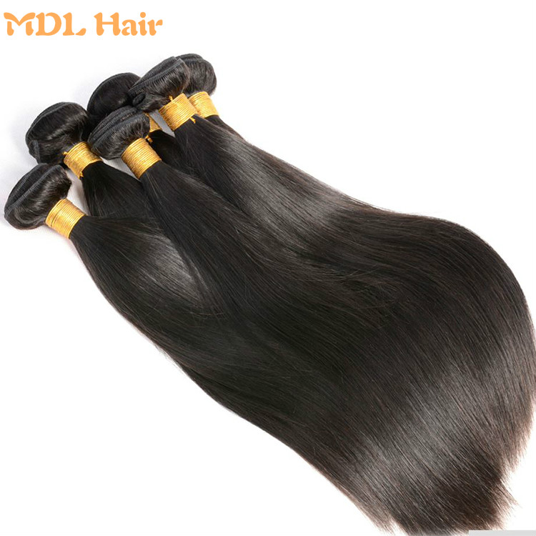 high quality 8a grade cuticle aligned hair mink straight virgin hair weaving from indian, Natural color 1b