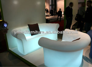 Hot Sales Modern Design Plastic Waterproof Led Light Sofa YM Led Sofa Series