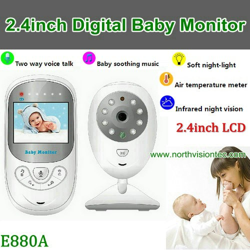 2.4G long distance two way talk wireless digital 2.4 inch lcd baby video monitor camera