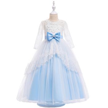 4ffeea9032 Larga vestidos diseño vestidos de niña de las flores vestido bebé niña ...