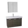 "Homedee 39"" waterproof mirror bathroom cabinet"