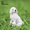 Roogo resin handmade royal garden ornament cute poodle puppies dogs for sale