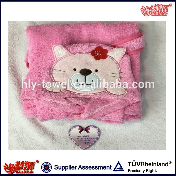 2-7Years/Autumn Winter Super Soft Flannel Band Kids Bathrobe Toddler Baby Girls Towel Robes Hooded Bathrobes For Children