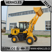 Shandong low mechanical wheel loader hauling dirt