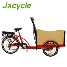 fashion front 2 wheels pedal assist electric cargo bike tricycle