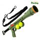 Interactive pet dog ball launcher gun with large 6.6cm tennis ball