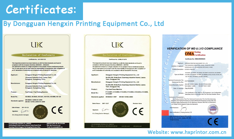 Dongguan factory directly manufactured plastic/metal/glass/PVC bottle caps automatic 3 color pad printing machine