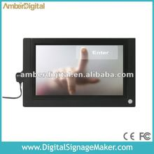 "7"" acrylic touch screen ad player"