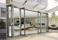 Australian Standard Double Glazed Aluminum Frame Panoramic Large Folding Windows And Doors