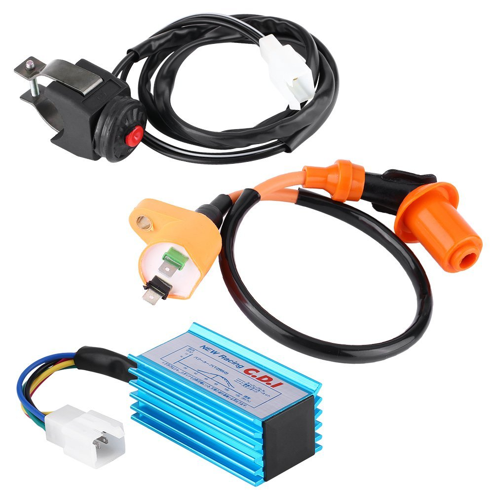 Cheap 110cc Ignition Coil Find Deals On Line At Pit Bike Kit Cdi Killswitch Loom Electrics Get Quotations Qiilu Motorcycle Racing Kill Switch For 125cc Dirt