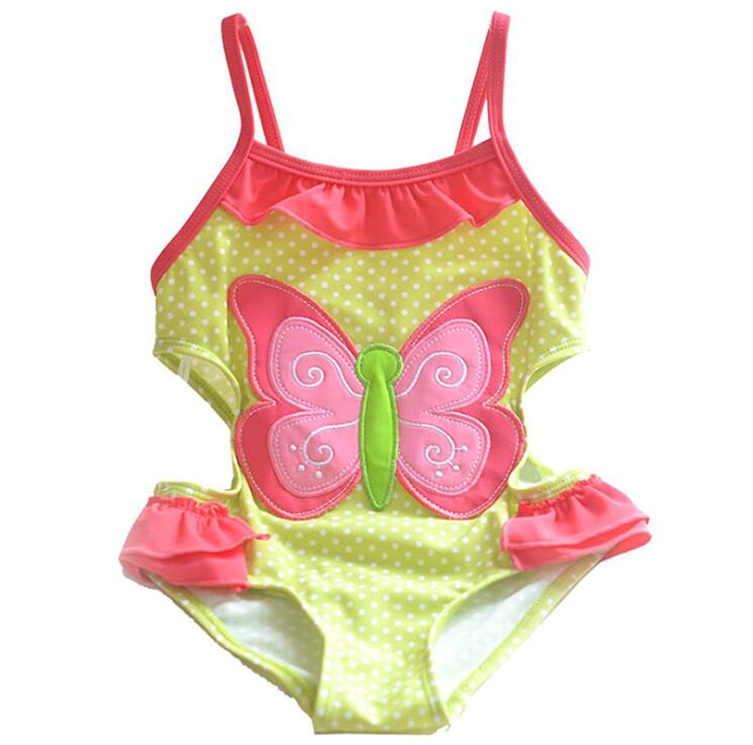 iEFiEL Baby Girls Toddlers Vigour Polka Dots One-Piece Swimwear Beach Holiday Bowknot Bathing Suit