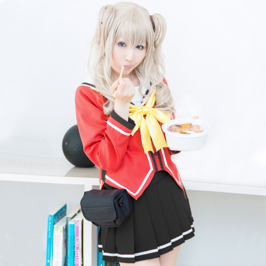 Anime Costumes Costumes & Accessories Japanese Anime Charlotte Tomori Nao Cosplay Costume Uniforms Beautiful Hot Sale Dress