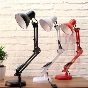 China Supplier Wholesale Folding Adjustable LED Table Desk Lamp Office E27 Fitting Modern Table Lamp