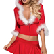 Santa Lady Christmas Fancy Dress Costume Trade Assurance Wholesale Woman Lady Adults 3 Piece Lil Red Riding Hood Christmas