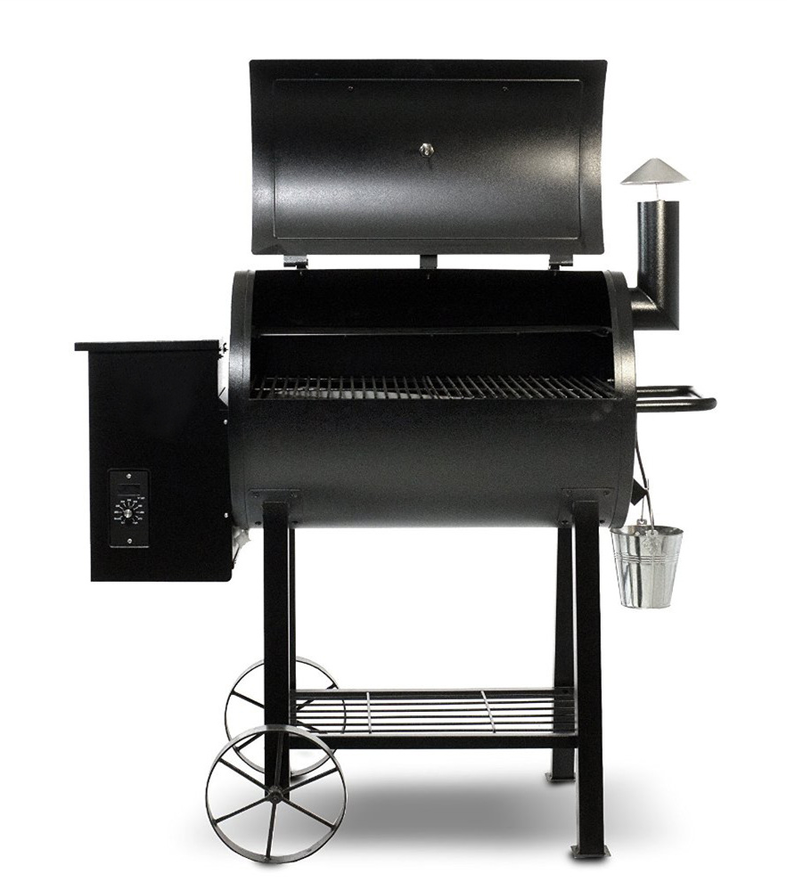 Professional Electric BBQ Pellet Grills with Chimney for Garden Cooking