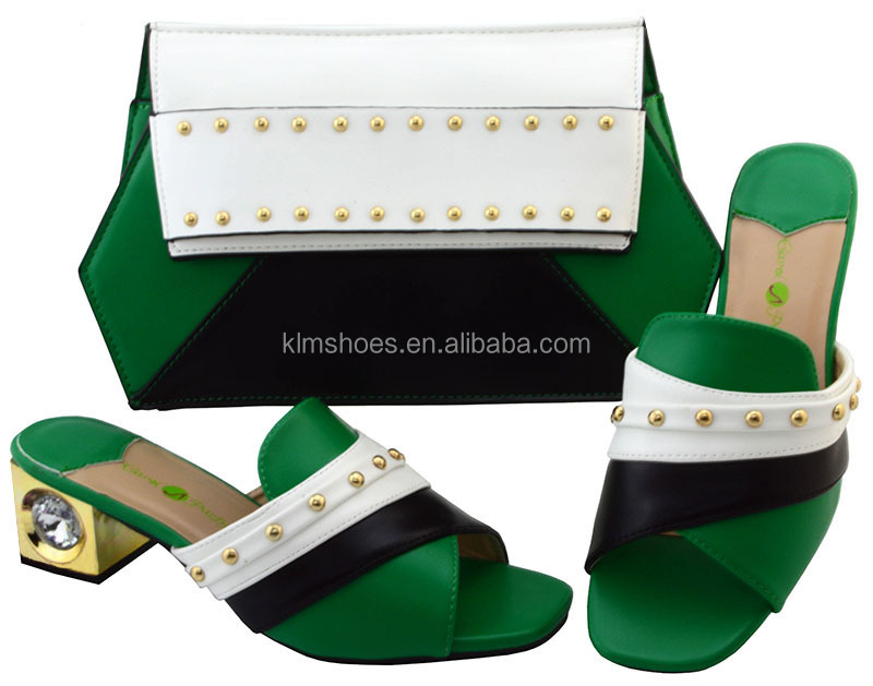 With Set Ladies bag African High Stones Bags With Green And Shoe Shoes Quality Women Bag With Matching YM002 Shoes Italian qnFnZ7YOE