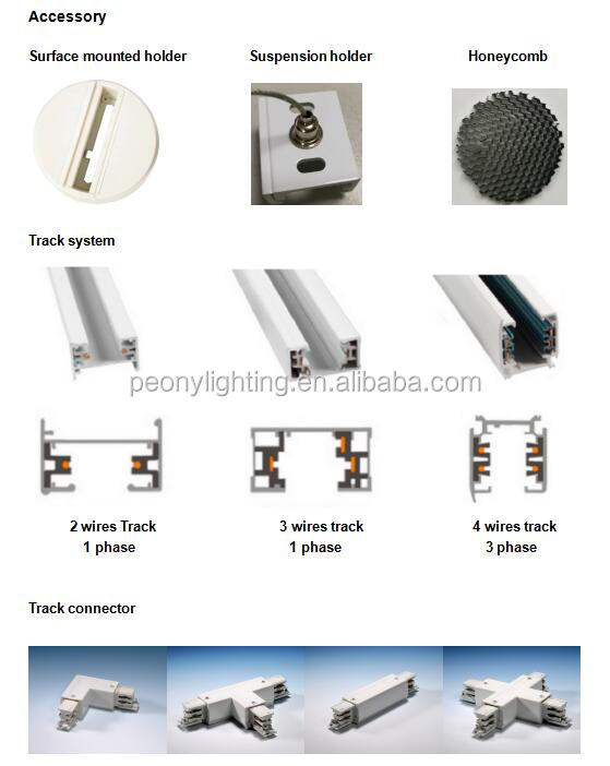 IP44 LED Spoor Licht met 2-4 Fase Track Adapter cob led spoor licht