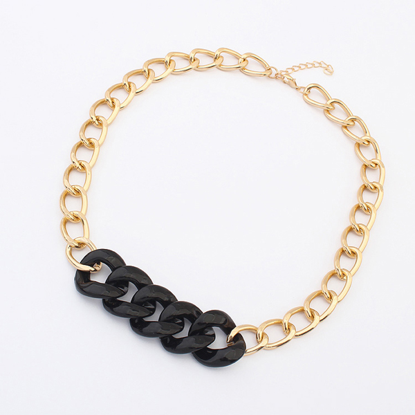 18k italian gold jewelry 2014trend women new fashion chains chunky fashion necklaces PN1419