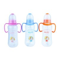 280ml cheap and transparent plastic baby milk bottle