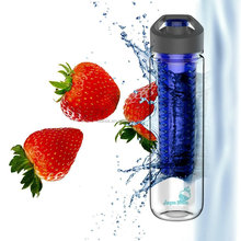 750ml/27Oz BPA FREE Tritan Plastic Sport Fruit Drink Infuser Filter Water Bottle With Carry Handle