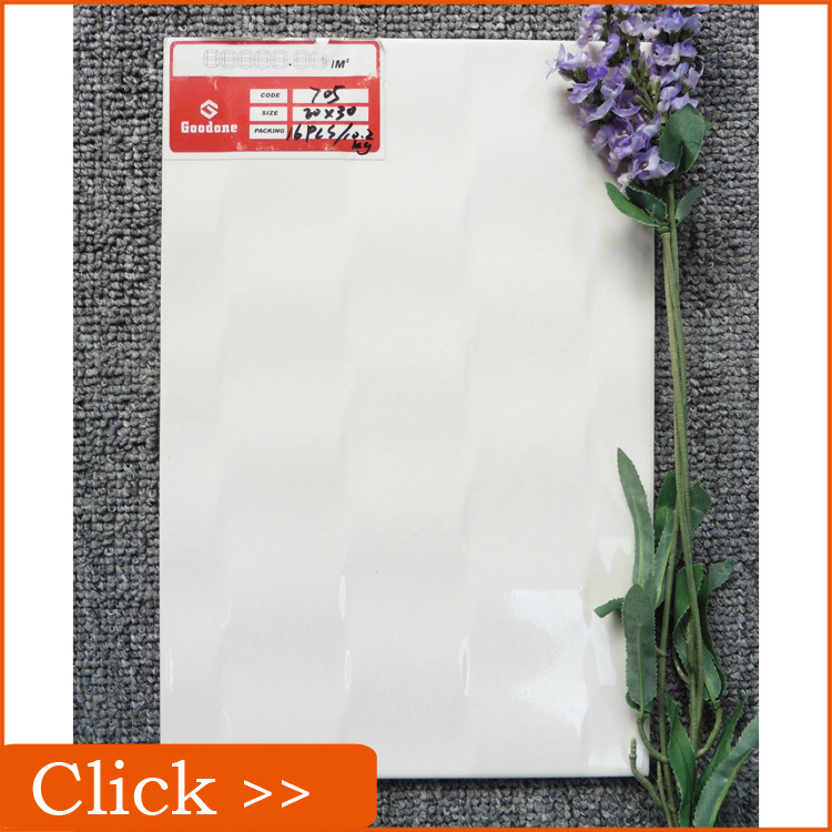 Christmas Promotion 3d White Embossed Kitchen Ceramic Wall Tile