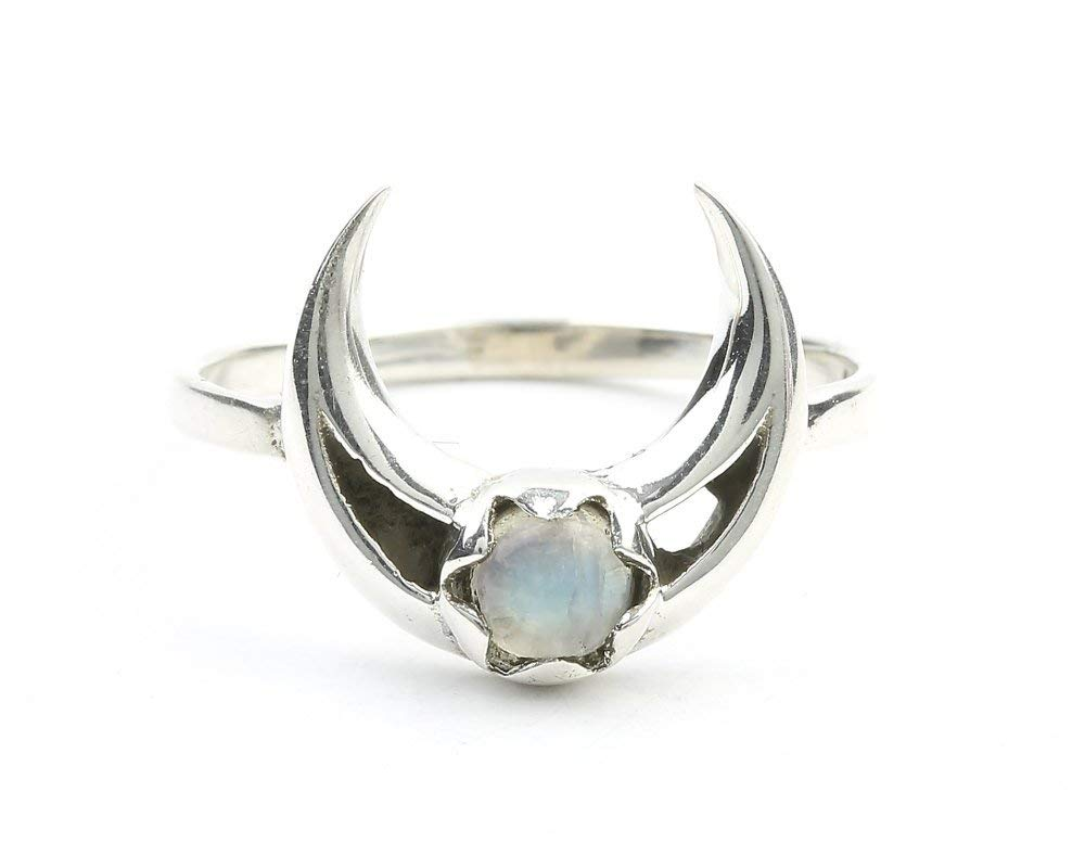 8x16 mm Marquise Blue Fire Rainbow Moonstone Gemstone Handmade 925 Solid Sterling Silver Jewelry Ring Size 6.5 gift for beautiful Girls