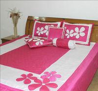 Floral Embroidered Designer Bed Sheet Set