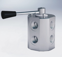 Max Flow 300 bar 6-ways diverter valves,Steel body with Aluminum Handel