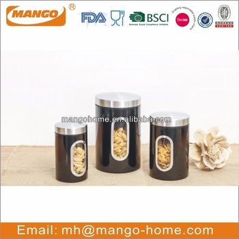 Black Sugar Storage Metal Food Canister Sets For Kitchen Buy Kitchen Canister Set Sugar Storage Canister Set Food Canister Sets Product On