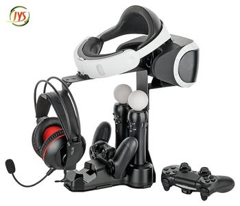 Metal Charge Stand And Display Stand For Ps Vr Ps4 Controller - Buy Ps4 Vr  Headset Stand And Controller Charge Station For Sony Vr,Factory Price Ps Vr