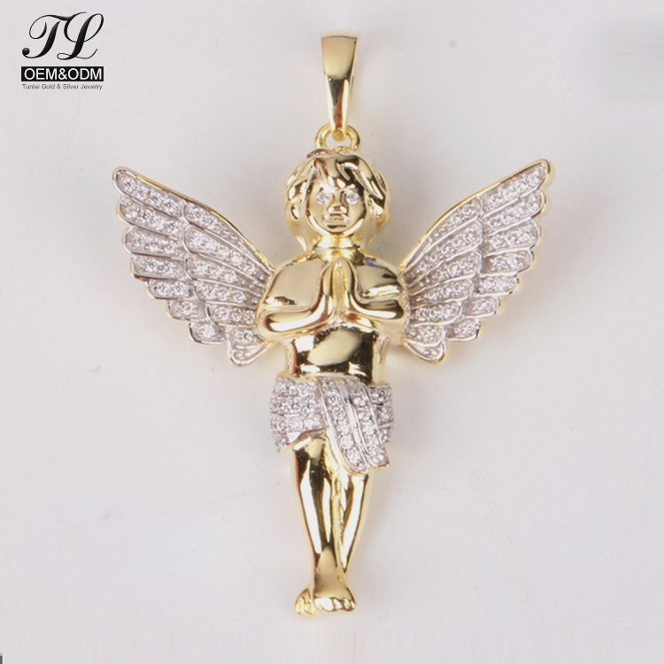 Custom design cubic zirconia 925 sterling silver jewelry wholesale india+cz thai gold pendants