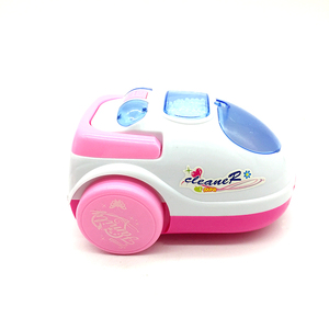 Plastic mini kids electric cleaner toys with light and music