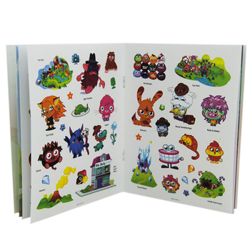 Removable sticker book printing custom sticker book for kid learning