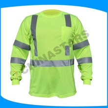 100% cotton polo hi vis class 3 safety shirts with buttoms