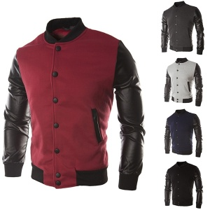 Men Fashion Jacket Coat PU Leather Casual Baseball Spring Autumn Sportswear Outdoor Suit Man Clothes Plus Size
