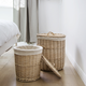 Hand woven round large eco friendly rattan willow products baby clothes wicker cane laundry basket stand with handles