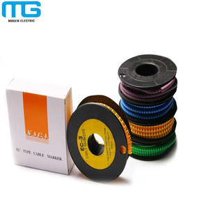 EC type PVC yellow color Cable Marker ,Cable marking Label Reel Roll for 2.5mm2 Wire